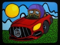 Gunnar's driving Mercedes AMG