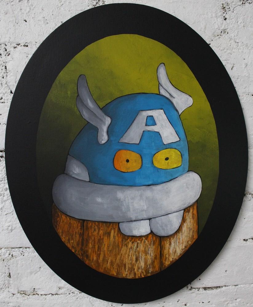 Choocky as Captain America