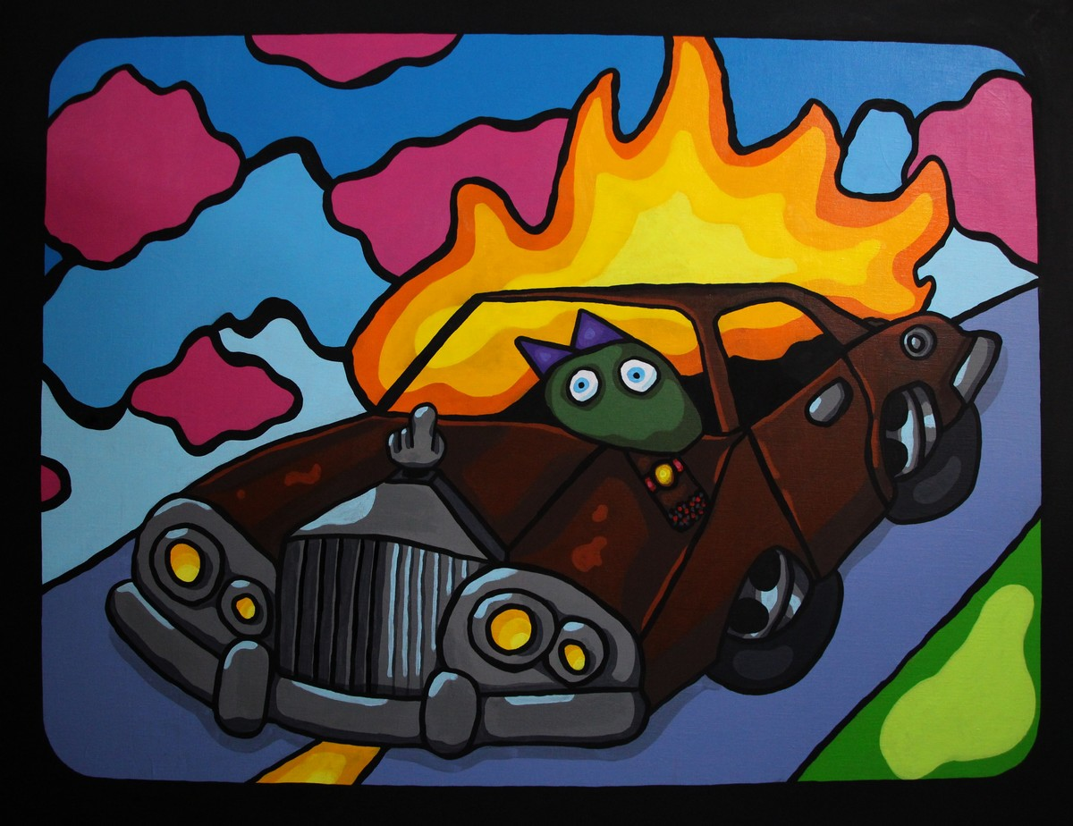 Rolls Royce in fire