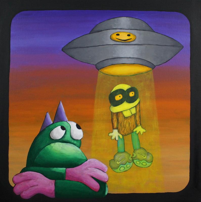 Choocky kidnaps by UFO