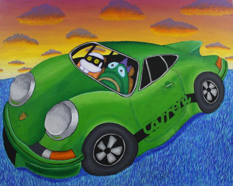 Gunnar stole the Porsche of the Eastpak Guy